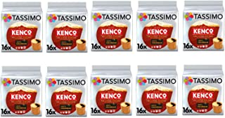 Tassimo Kenco Cápsulas de café colombiano - 10 paquetes (160 bebidas)