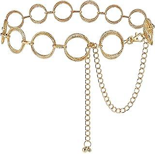 أحزمة سلسلة حلقات دائرية من غلامورستار للنساء حزام خصر لفستان سلسلة ربط هدية