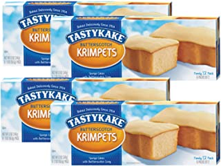 Tastykake Butterscotch or Jelly Krimpets Family Size 12 Pack- A Philadelphia Baking Institution (Butterscotch Krimpets, 4 Pack)