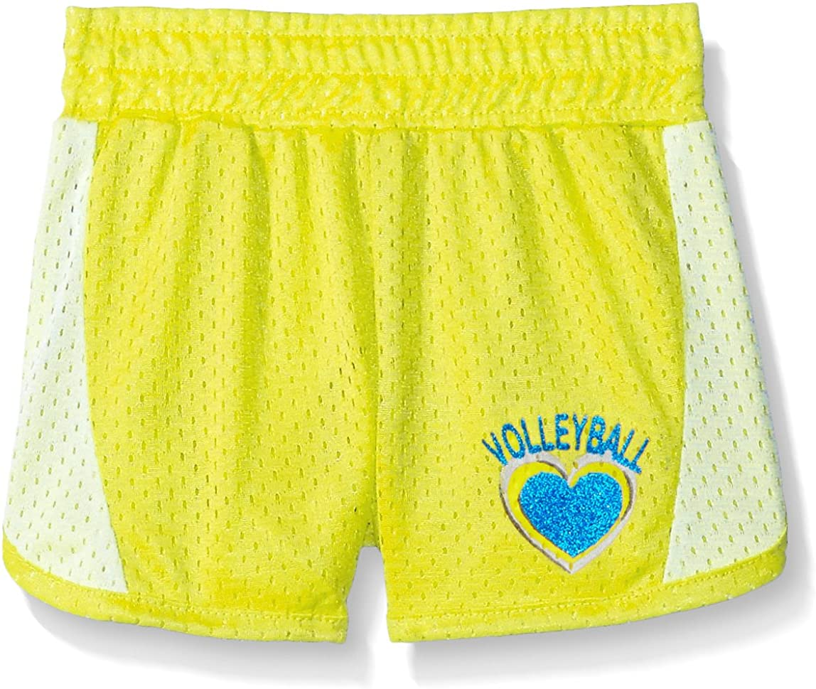 Max 47% OFF Dream Star Girls' Mesh Short with Screen Glitter Super Special SALE held Colorblocki and