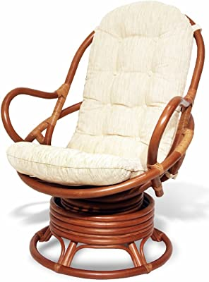 Amazon.com: Lounge Swivel Rocking Java Chair Natural Rattan ...