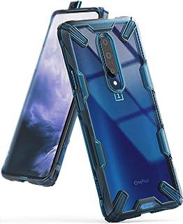 Ringke Fusion-X مصمم لهاتف OnePlus 7 Pro غطاء حماية مقاوم للصدمات لهاتف OnePlus 7 Pro 5G (6.7 بوصة) - أزرق فلكي