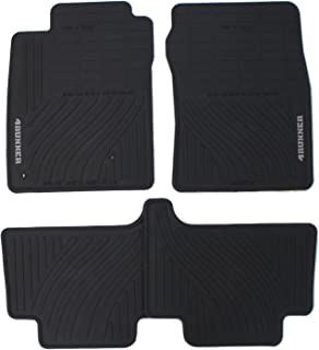 Genuine Toyota Accessories PT908-89090-20 Front and Rear All-Weather Floor Mat (Black), Set of 4