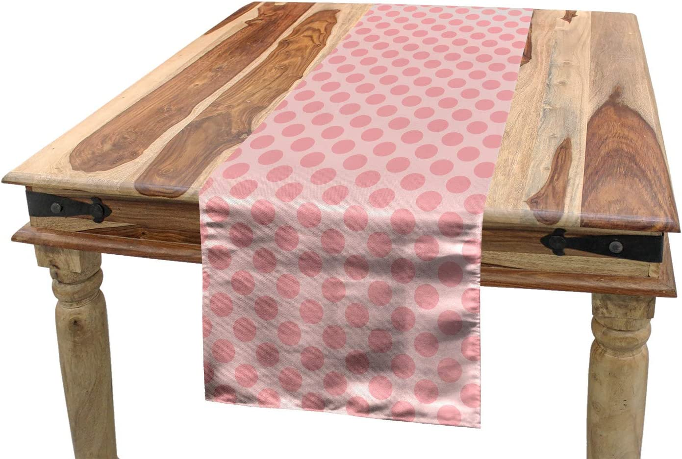 Amazon.com Ambesonne Pink Polka Dots Table Runner, Spots ...