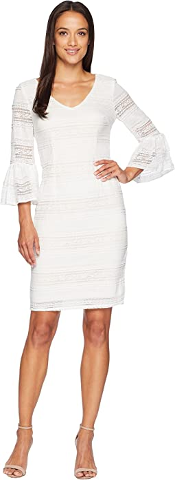 Ava Lace Bell Sleeve Dress
