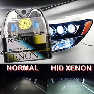 H3 55W 12V 5000K Hid Car Headlight Halogen Bulbs Kobo Blue Tint White Xenon Super Gas Charged Lamp Super Bright Fog High Low Beam Motorbike Ultra Upgrade Direct Replacement [2 Pack][1003][TOTUMY]
