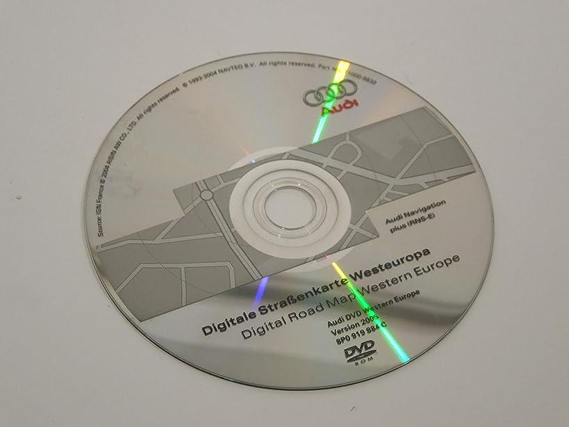 Audi A4 B7 A3 8P RNS-E Sat Nav Satellite Navigation DVD Disc 2005