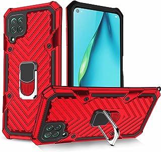 Molg Kompatibel med Huawei P40 Lite [Skärmskydd] Militär Klass Heavy Duty Omslag med Magnetisk Bilmontering Hård Silikon S...