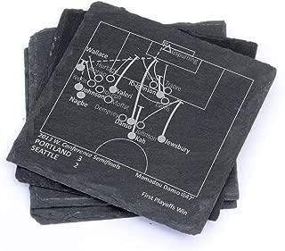 Greatest Timbers Plays - Slate Coasters (Set of 4)