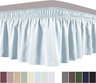 Obytex Wrap Around Bed Skirts, Cotton Bedskirt Elastic Dust Ruffle Silky Soft & Wrinkle Free Classic Stylish Look in Your Bedroom