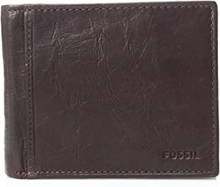 Fossil Men's Rfid Blocking Ingram Large Coin Pocket Bifold, Brown, One Size