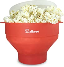Original Salbree Microwave Popcorn Popper, Silicone Popcorn Maker, Collapsible Bowl BPA Free - 15 Colors Available (Red)