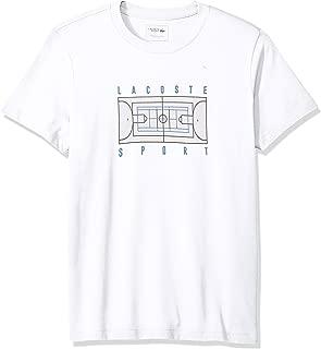 Lacoste Men's Sport Short Sleeve Tennis Court Print Graphic T-Shirt