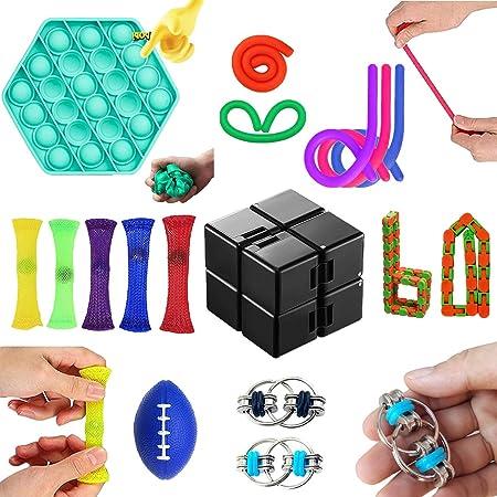 Fidget Spielzeug Set,Anti Stress Spielzeug Set,Sensory Toys f/ür Stressabbau und Anti-Angst f/ür Kinder und Erwachsene ADD ADHS Kleine Tiere 21 Pack, Einheitsgr/ö/ße