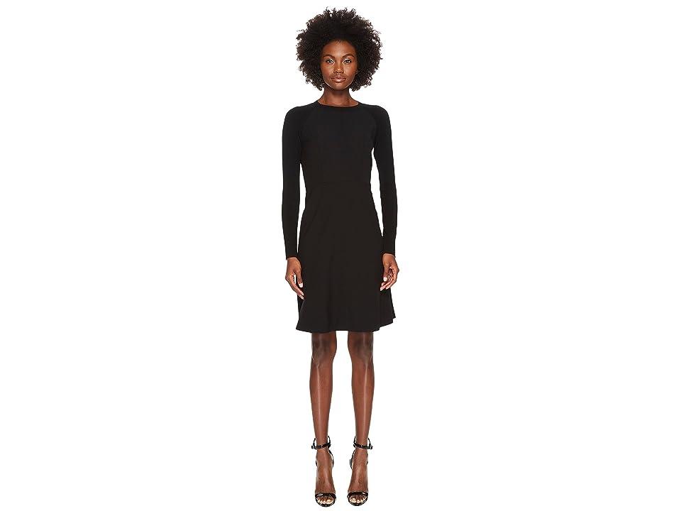 Sportmax Rennes Long Sleeve Dress (Black) Women