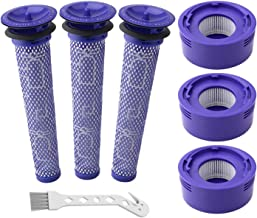 Auloo 6 Pack Vacuum Filter Replacement Kit for Dyson Dyson V8+, V8, V7 Absolute Animal Motorhead Vacuums, 3 HEPA Post Filt...