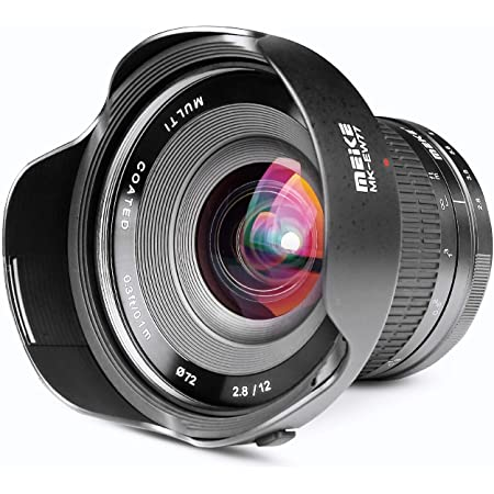 Meike 12mm f/2.8 Ultra Wide Angle Manual Fixed Lens with Removeable Hood for MFT Micro Four Thirds Panasonic/Olympus Mirrorless Camera