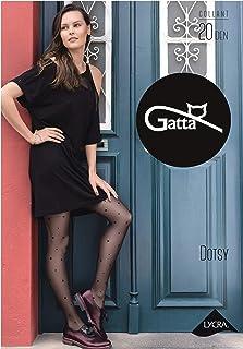 Gatta gepunktete Feinstrumpfhose 20den 664-07 - Damenstrumpfhose mit Punktmuster matt - Designed & Made in EU