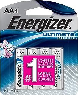 Energizer Ultimate Lithium Batteries Batteries AA, 4 Each