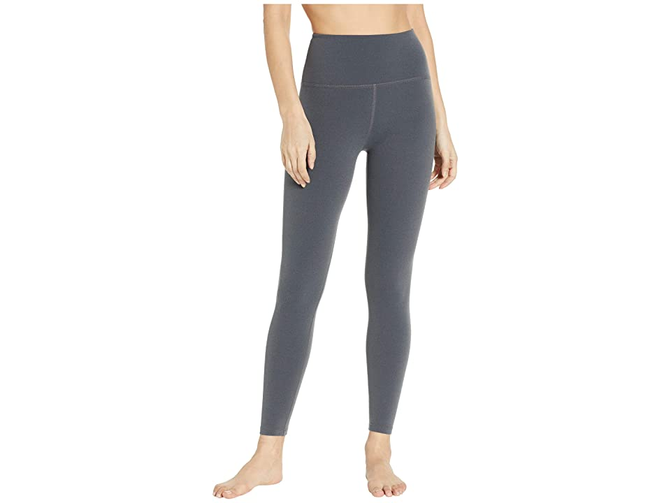 Beyond Yoga High-Waisted Midi Leggings (Charcoal Heather Gray) Women