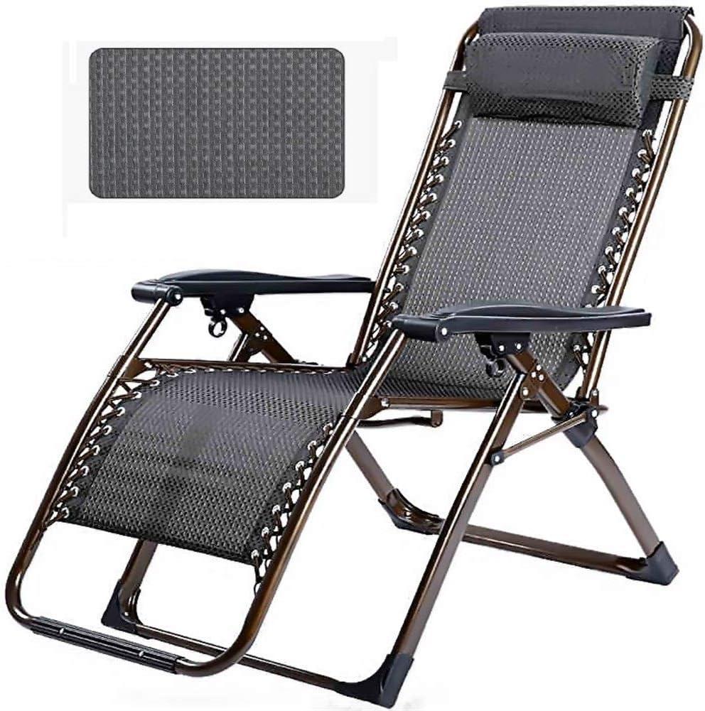 KTDT Tumbonas y sillones reclinables para jardín Pequeño patrón de Rejilla Negra Silla Plegable Ajustable Tumbona de jardín Tumbona reclinable para la Playa Piscina Patio al Aire Libre Jardín CAM
