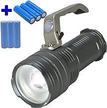 Lanterna LED Cree T6 tática Recarregável forte Prata 6