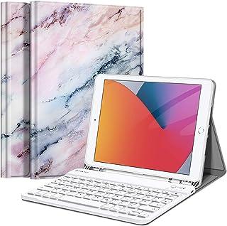 Fintie Tastatur Hülle für iPad 10.2 Zoll (9/8/ 7 Generation - 2021/2020/2019), Soft TPU Rückseite Gehäuse Schutzhülle mit ...