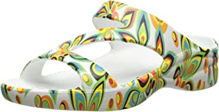 DAWGS Womens Loudmouth Z Arch Support Loudmouth Z Size: 5 Shagadelic White