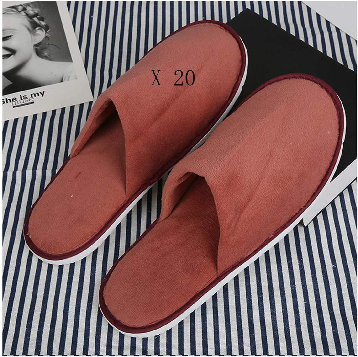 Slippers Women and Men Disposable Portable Ladies Spa Slippers Hotel Disposable Slippers 20 Double Thicken Women's Beauty Nail Slippers Men Washable Spa-