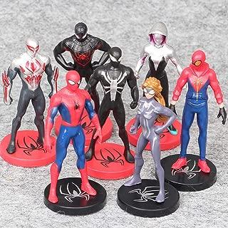 Superhero Spider-Man Figures 7 Piece Set,Spider-Man Cake Topper,Birthday Party Cake Supplies