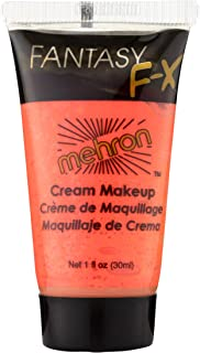 Mehron Makeup Fantasy F/X Water Based Face & Body Paint (1 Ounce) (Glow Orange)