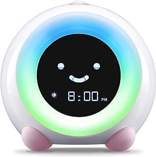 LittleHippo Mella Ready to Rise Children's Trainer, Alarm Clock, Night Light and Sleep Sounds Machine (Blush Pink)