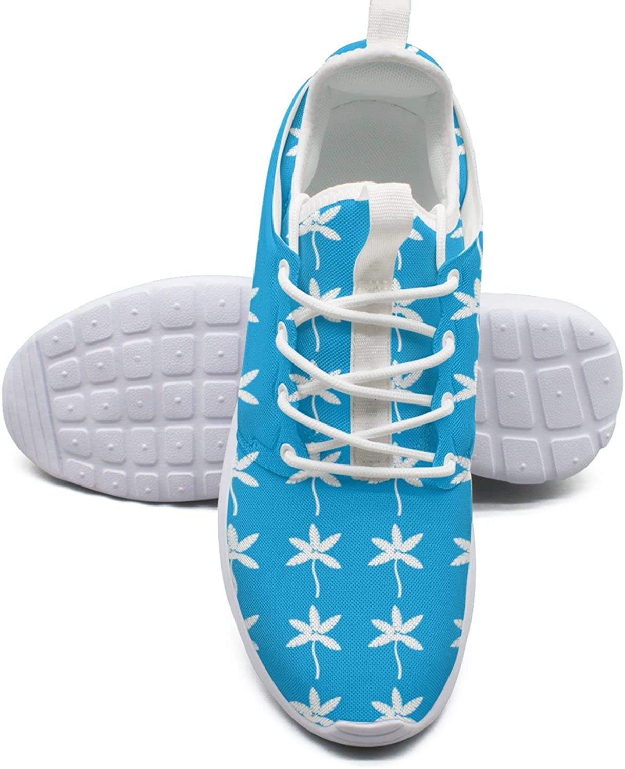 Palm Tree with Coconuts Icon White Women's Lightweight Mesh Tennis Sneakers Retro Basketball shoes