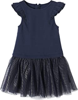 747a8273ab103 Vertbaudet Robe de fête Fille bi-matière Effet 2 en 1