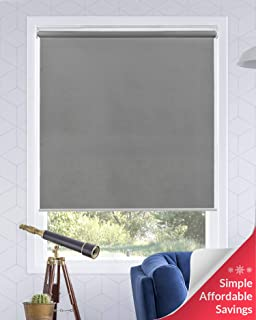 Chicology Cordless Roller Shades Snap-N'-Glide, Light FilteringPerfect for Living Room/Bedroom/Nursery/Office and More.Urban Grey (Light Filtering), 39