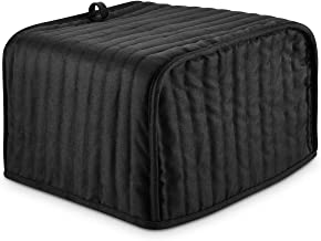 4 Slice Toaster Cover, Dust and Fingerprint Protection Appliance Cover, Machine Washable, Black