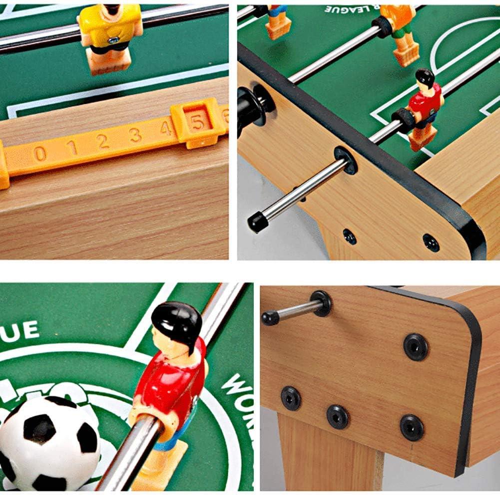 Houten tafelvoetbalspel met 2 ballen, draagbare voetbaltafel voor kinderen, leuk tafelvoetbalspel voor thuisrecreatie C