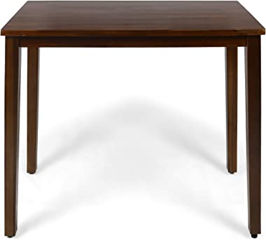 Christopher Knight Home Taylo Contemporary Acacia Wood Bar Height Table, Rich Mahogany Finish