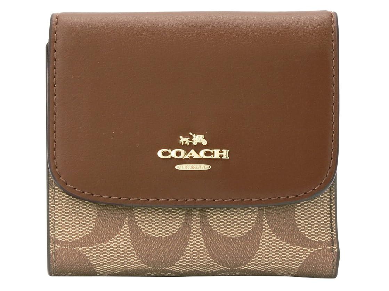鷲ふさわしい気づく[コーチ] COACH 財布 三つ折り ミニ コンパクト F87589 シグネチャー アウトレット [並行輸入品]