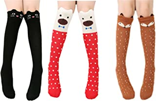 83141ccd4 Cartoon Knee-high Long Socks Cable-knit School Uniform Socks Cosplay Socks
