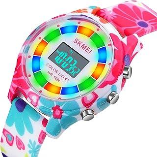 Montre Enfant,Montre Enfant Fille Adolescent Digitale Sport de Montre Multifonction Chronographe avec LED Lumière/Alarme C...