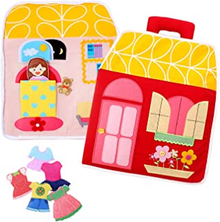 LoveLnE Carry Home ,Dollhouse Bag, Educational Toy, Toddler Activity Book, Quiet Book, Busy Book, Toy Book, Girl Bag