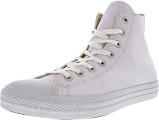 Converse Men's Chuck Taylor All Star Leather Hi Sneaker 12 White