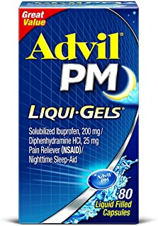 Advil PM Ibuprofen 200 mg Liqui-Gels 80 ea (Pack of 2)