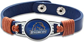 Boise State Broncos Leather Bracelet with Snap Closure 7