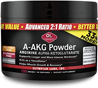 Olympian Labs A-AKG Powder | 30 Servings | Advanced 2:1 Ratio, Exercise Endurance Intensity, Muscle Growth Recovery and Va...