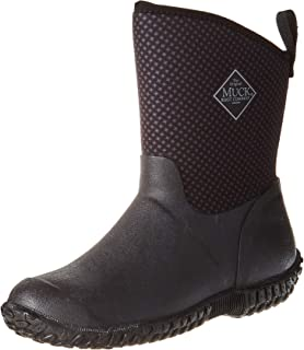 Muck Boot Women's Muckster II Mid Rain Boot, Black/Gray/Roses Print, 10 M US