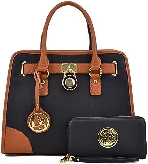 Women Handbags Top Handle Satchel Purse Shoulder Bag Briefcase Hobo Bag Set 2pcs