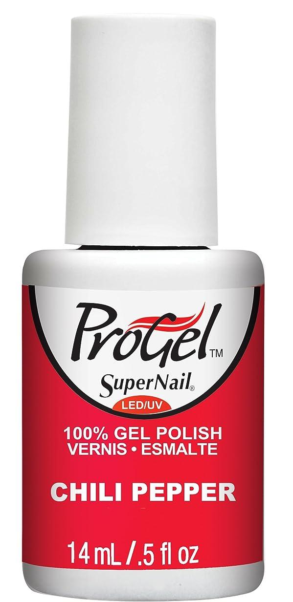 喜ぶ神話甘くするSuperNail ProGel Gel Polish - Chili Pepper - 0.5oz / 14ml