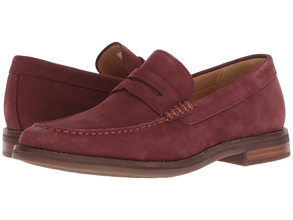 Sperry Gold Exeter Penny Loafer (Burgundy Nubuck) Men